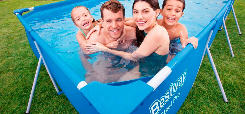 Relájate y disfruta de un baño único en tu jardín con la amplia oferta de piscinas desmontables que tenemos para tí.